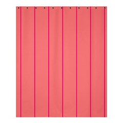 Background Image Vertical Lines And Stripes Seamless Tileable Deep Pink Salmon Shower Curtain 60  X 72  (medium)  by Amaryn4rt