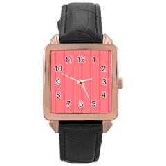 Background Image Vertical Lines And Stripes Seamless Tileable Deep Pink Salmon Rose Gold Leather Watch