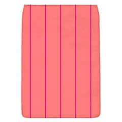 Background Image Vertical Lines And Stripes Seamless Tileable Deep Pink Salmon Flap Covers (s)  by Amaryn4rt
