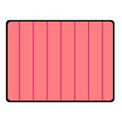 Background Image Vertical Lines And Stripes Seamless Tileable Deep Pink Salmon Double Sided Fleece Blanket (small)  by Amaryn4rt
