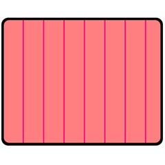 Background Image Vertical Lines And Stripes Seamless Tileable Deep Pink Salmon Double Sided Fleece Blanket (medium)  by Amaryn4rt