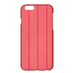 Background Image Vertical Lines And Stripes Seamless Tileable Deep Pink Salmon Apple Iphone 6 Plus/6s Plus Hardshell Case by Amaryn4rt