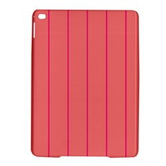 Background Image Vertical Lines And Stripes Seamless Tileable Deep Pink Salmon Ipad Air 2 Hardshell Cases by Amaryn4rt