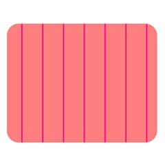 Background Image Vertical Lines And Stripes Seamless Tileable Deep Pink Salmon Double Sided Flano Blanket (large)  by Amaryn4rt