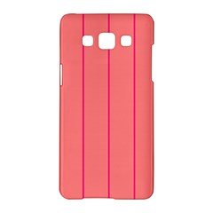 Background Image Vertical Lines And Stripes Seamless Tileable Deep Pink Salmon Samsung Galaxy A5 Hardshell Case  by Amaryn4rt