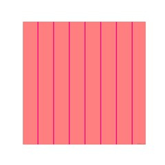 Background Image Vertical Lines And Stripes Seamless Tileable Deep Pink Salmon Small Satin Scarf (square) by Amaryn4rt