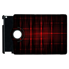 Black And Red Backgrounds Apple Ipad 3/4 Flip 360 Case by Amaryn4rt