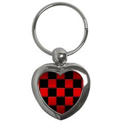 Black And Red Backgrounds Key Chains (heart)  by Amaryn4rt