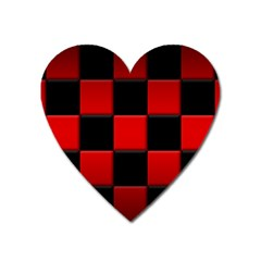 Black And Red Backgrounds Heart Magnet by Amaryn4rt