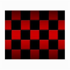 Black And Red Backgrounds Small Glasses Cloth (2 Side) by Amaryn4rt
