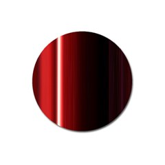 Black And Red Magnet 3  (round) by Amaryn4rt