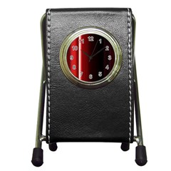Black And Red Pen Holder Desk Clocks by Amaryn4rt