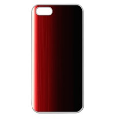 Black And Red Apple Seamless Iphone 5 Case (clear)