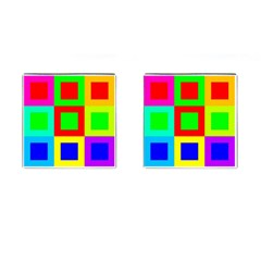 Colors Purple And Yellow Cufflinks (square) by Amaryn4rt