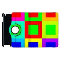 Colors Purple And Yellow Apple Ipad 2 Flip 360 Case by Amaryn4rt