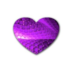 Circular Color Rubber Coaster (heart)  by Amaryn4rt