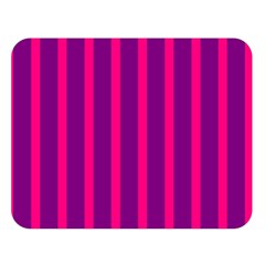 Deep Pink And Black Vertical Lines Double Sided Flano Blanket (large)  by Amaryn4rt