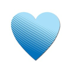Blue Dot Pattern Heart Magnet