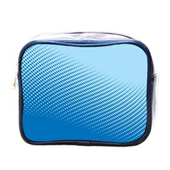 Blue Dot Pattern Mini Toiletries Bags by Amaryn4rt