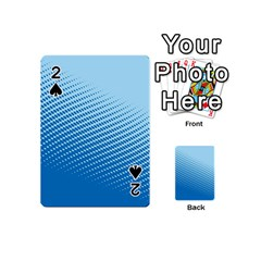 Blue Dot Pattern Playing Cards 54 (mini)  by Amaryn4rt