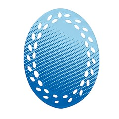 Blue Dot Pattern Oval Filigree Ornament (two Sides) by Amaryn4rt
