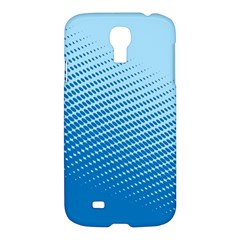 Blue Dot Pattern Samsung Galaxy S4 I9500/i9505 Hardshell Case by Amaryn4rt