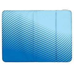 Blue Dot Pattern Samsung Galaxy Tab 7  P1000 Flip Case by Amaryn4rt