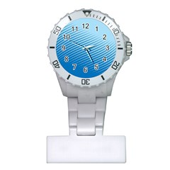 Blue Dot Pattern Plastic Nurses Watch by Amaryn4rt