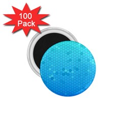 Blue Seamless Black Hexagon Pattern 1 75  Magnets (100 Pack)  by Amaryn4rt