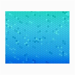 Blue Seamless Black Hexagon Pattern Small Glasses Cloth (2 Side) by Amaryn4rt