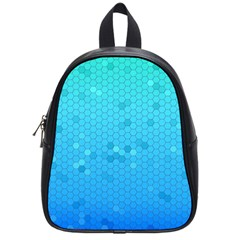 Blue Seamless Black Hexagon Pattern School Bags (small)  by Amaryn4rt