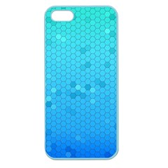 Blue Seamless Black Hexagon Pattern Apple Seamless Iphone 5 Case (color)