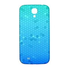 Blue Seamless Black Hexagon Pattern Samsung Galaxy S4 I9500/i9505  Hardshell Back Case by Amaryn4rt