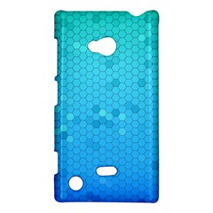Blue Seamless Black Hexagon Pattern Nokia Lumia 720 by Amaryn4rt