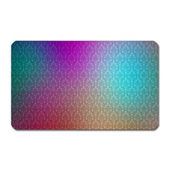 Blue And Pink Colors On A Pattern Magnet (rectangular) by Amaryn4rt