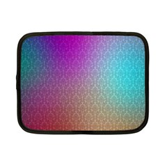 Blue And Pink Colors On A Pattern Netbook Case (small)  by Amaryn4rt