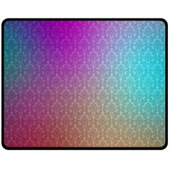 Blue And Pink Colors On A Pattern Fleece Blanket (medium)  by Amaryn4rt