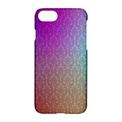Blue And Pink Colors On A Pattern Apple Iphone 7 Hardshell Case by Amaryn4rt