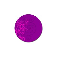 Floraly Swirlish Purple Color Golf Ball Marker (4 Pack) by Amaryn4rt