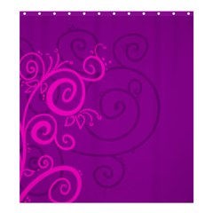 Floraly Swirlish Purple Color Shower Curtain 66  X 72  (large)  by Amaryn4rt
