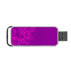 Floraly Swirlish Purple Color Portable Usb Flash (two Sides) by Amaryn4rt