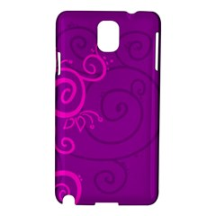 Floraly Swirlish Purple Color Samsung Galaxy Note 3 N9005 Hardshell Case by Amaryn4rt