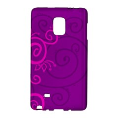 Floraly Swirlish Purple Color Galaxy Note Edge by Amaryn4rt