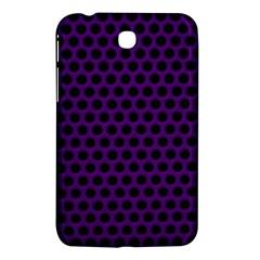 Dark Purple Metal Mesh With Round Holes Texture Samsung Galaxy Tab 3 (7 ) P3200 Hardshell Case  by Amaryn4rt