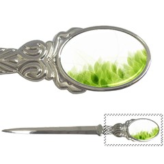 Green Leaves Pattern Letter Openers by Amaryn4rt