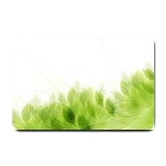 Green Leaves Pattern Small Doormat  by Amaryn4rt