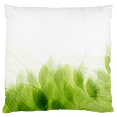 Green Leaves Pattern Large Cushion Case (two Sides)