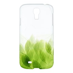 Green Leaves Pattern Samsung Galaxy S4 I9500/i9505 Hardshell Case by Amaryn4rt