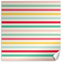 Papel De Envolver Hooray Circus Stripe Red Pink Dot Canvas 16  X 16   by Amaryn4rt
