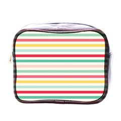 Papel De Envolver Hooray Circus Stripe Red Pink Dot Mini Toiletries Bags by Amaryn4rt